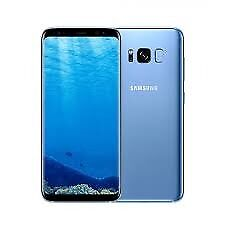 Samsung Galaxy S8 blue 64GB Unlocked Mint Condition with Protective Case