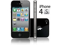 APPLE iPhone 4s 8GB BLACK VODAFONE 3 MTHS WARRANTY GOOD CONDITION LAPTOP/PC USB LEAD