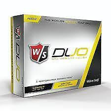 Wilson Duo Golf Balls Yellow Only 2 Dozen $33