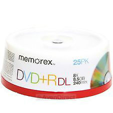 For sale: Memorex 15-Pack 8.5GB 8X DVD+R Dual Layer