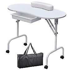 portable nail table, air compressor, uv lamp and other things