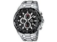 mans casio edifice watch only 5 months old mint condition comes with original box and 2 spare links