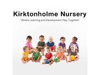Cleaner required for Kirktonholme Nursery Canniesburn in Bearsden Monday-Friday 6.00pm-8.30pm