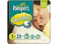 Pampers newborn nappies size 1 (23)