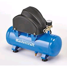 Mastercraft 2 gallon air compressor with accessories