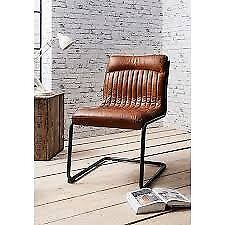 John Lewis Brown Leather Desk Chair for Sale - Like New