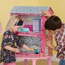BNIB Plum Camden Court Wooden Dolls House with Accessories, Childrens Dollshouse