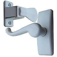new Ideal Security Deluxe  White Storm Door Handle Set with KEY