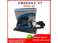 openbox freesat v7 skybox 2016 smal box with wifi dongle wd 1 year gft
