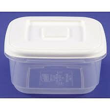 White Square Food Container 600ml (Discont pack of 10)
