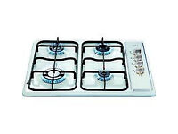 GAS HOB 60CM INTEGRATED SIDE CONTROL IN WHITE BRAND NEW IN BOX