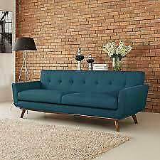 Johnston Tufted Upholstered Sofa By Langley Street Blue ** SPRING BLOW OUT SALE ** 5 CORNERS FURNITURE **