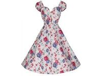 Brand New 'Bella' Beautiful Japanese Floral Print 50's Vintage Style Dress