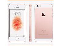iPhone SE rose gold 16gb (UNLOCKED good condition 4 months apple warranty left )