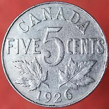 Canadian Nickels 1922 to 2015