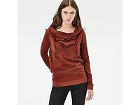 Womens G star Raw Hoodie - Dark Auburn Size: Small