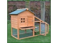 FREE Double rabbit hutch, Needs roof and side repaired