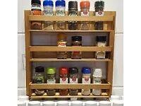 Wren Living DESIGNER Spice Storage Rack Smeier Solid Oak