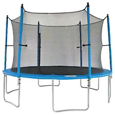 12' trampoline with matts and safety net