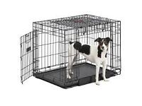 Dog Crate from Pets at Home. Brown 65/65/95 cm. Plastic tray Excellent condition