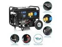 8.1 kVA Petrol Generator w. Electric Start, Wheel Kit, Oil & Flyleads