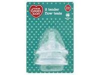 JOBLOT TESCO LOVES BABY TENDER FLOW TEATS VARI FLOW