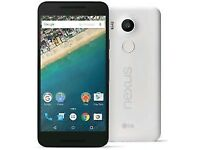 LG NEXUS 5X 32GB IN WHITE MOBILE PHONE*** UNLOCKED*** LIKE NEW*