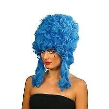 BLUE DAME / BEEHIVE MARGE SIMPSON TYPE FANCY DRESS WIG PARTY OR HEN DO