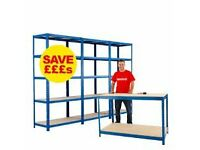 Storage Shelving - X3 Tall Units & Work Bench