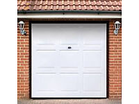 Up and over second hand Wickes Georgian Grp Garage Door White 1981 x 2134mm.