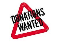 Donations Wanted! Having a clear out? We'll come collect!