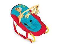 Baby bouncer Hauck unisex red & blue, giraffe motive, almost new