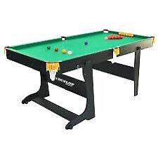 Dunlop 6ft snooker/pool table foldable
