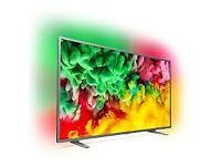 "BRAND NEW 65""PHILIP 4K SMART AMBER LIGHT £530"