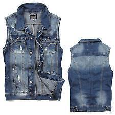 Mens Jean Vest Ebay