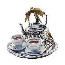 Kurt Adler Downton Abbey Tea Set Christmas Ornament -BRAND N