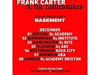 Frank Carter and the Rattlesnakes gig ticket