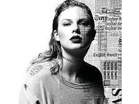 4x Taylor Swift tickets less than face value best standing available
