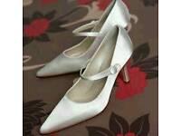 Lacey Rainbow Club Wedding Shoes Ivory Satin Bridal Shoes UK Size 6 NEW