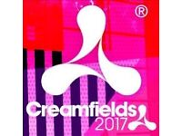 2 x full weekend camping creamfileds tickets