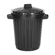 Black dustbins x 2