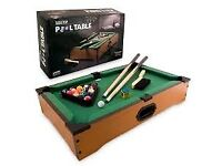 Tabletop Pool Table - Only used once or twice, Like New Condition