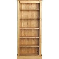 Tall Wide Extra Deep Bookcase Solid Pine