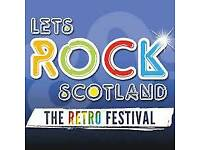 1 adult and free child Let's Rock Scotland ticket