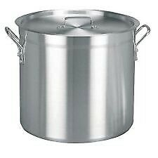 Vogue Stock Pot 37.8 Litres S353 Aluminium - 5 Available - WITH LIDS - BRAND NEW