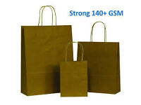 Strong Natural Brown on Brown Carrier Bag with Twisted Handle from PicoBags