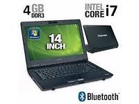 PROFESSIONALLY REFURBISHED TOSHIBA M11 INTEL i7 4GB RAM 320 GB HDD WEBCAM MS OFFICE 12 MTH WARRANTY