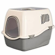 Large Covered Cat Litter Box With Door and Side Filter