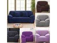 Navy Blue Nigh Elastic Anti-Mite Sofa Cover For 3 Seater Sofa