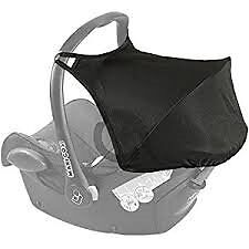 black Maxi Cosi Cabriofix Sun Canopy Hood Shade replacement - AS NEW-